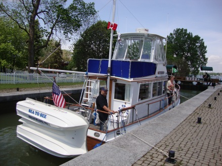 How we operate at both ends in Chambray Canal Locks