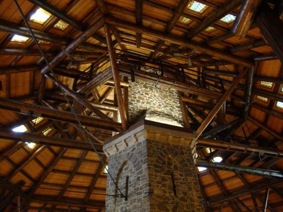 Inside the log cabin - Montebello.