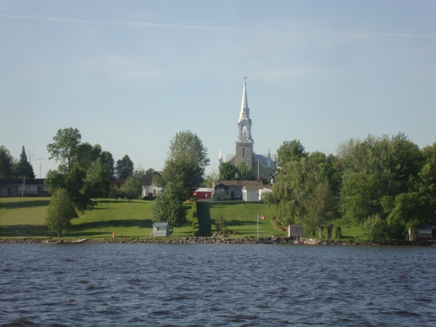 Many many churches with spires like this along the way.  Vicki wanted a collection of photos from each.