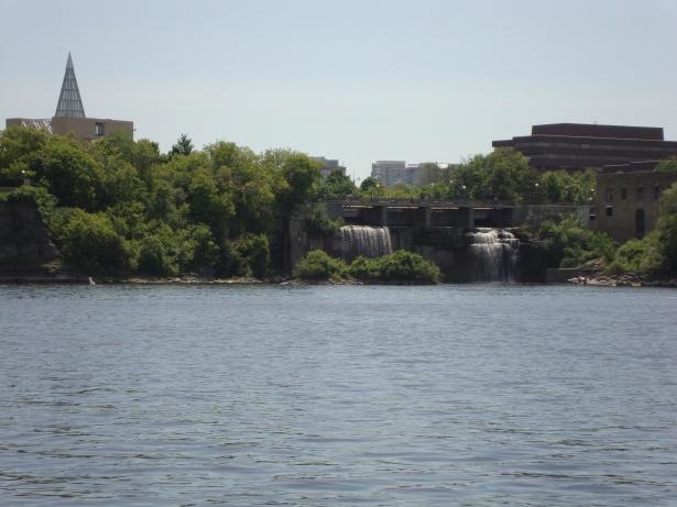 Rideau Falls where the Rideau River empties into the Ottawa River.