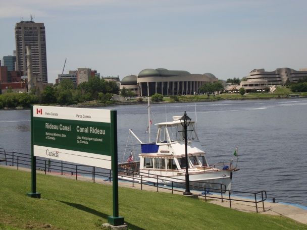On the Blue Line below the Ottawa flight of eight locks in the heart of the city.
