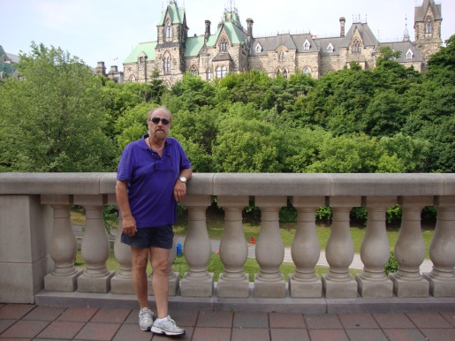 The Canadian Parliament from the vicinity of the locks.