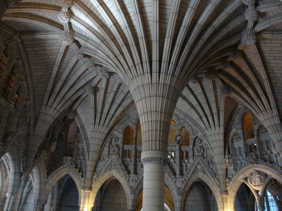 There is some incredible architecture in the Canadian Parliament buildings.
