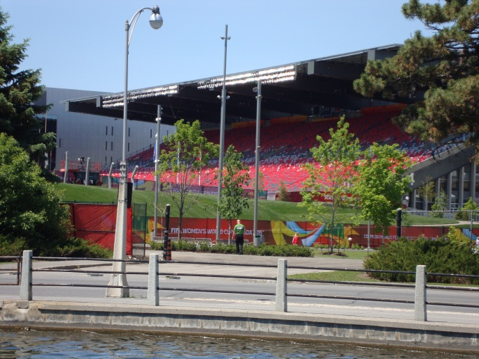 Soccer Stadium where the Woman's World Cup  will be played - along the Rideau Canal.