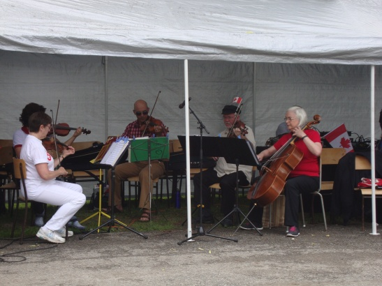 Merrickville String Quartet plays at the Canada Day Celebration.