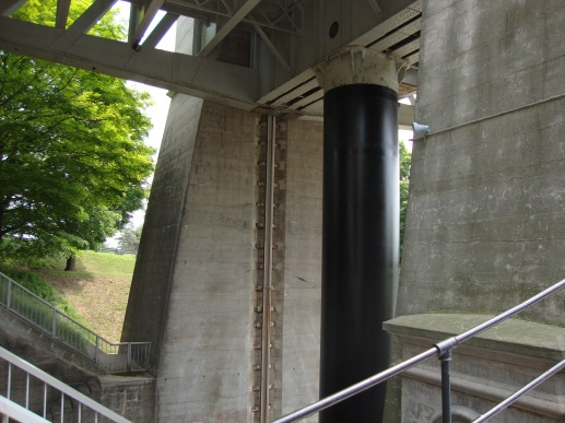 Peterborough Lift Lock undercarriage.
