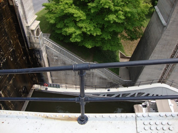 It seemed pretty high when you are sitting on you boat looking out - Peterborough Lift Lock
