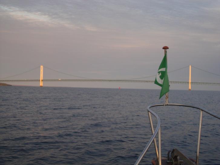 Mackinac Bridge across the Strait of Mackinac