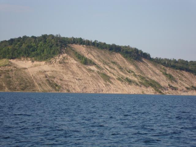Sand Bluffs along the East Lake Michigan shore.