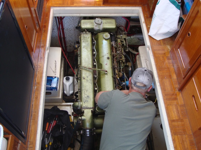The engine compartment on SEA TO SEE