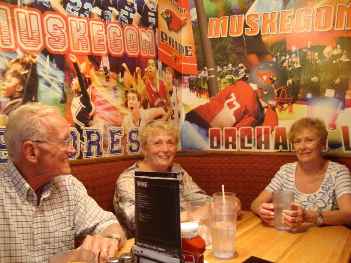 The Synchronicity Crew - Ron and Marilyn Steiner at Applebee's.