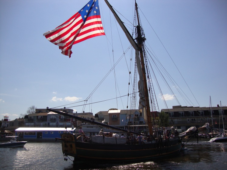 Our slip was in the Maritime Museum arm of the Municipal Marina.  The took people on this old ship for sailing trips.