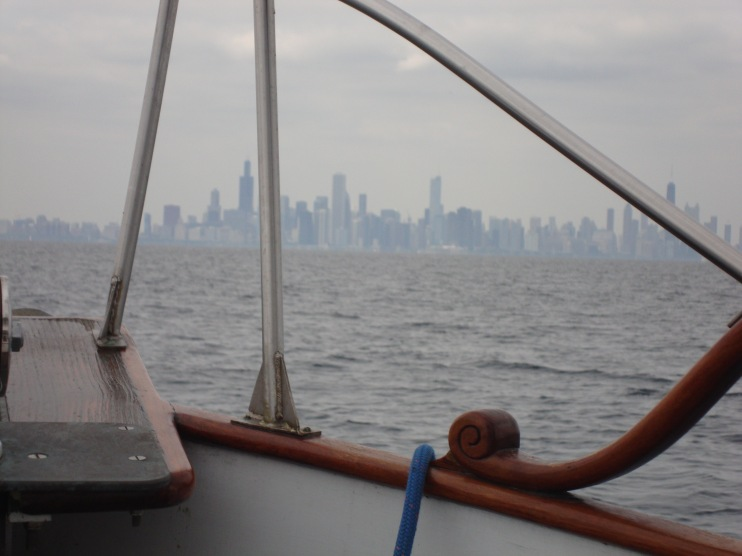 Chicago skyline as we approached from about six miles out.  Welcome sight!