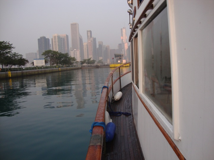 Approaching the Chicago Harbor Lock