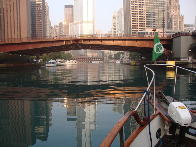 One more bridge over the Chicago River.  One of 40+ in the first 10 miles.