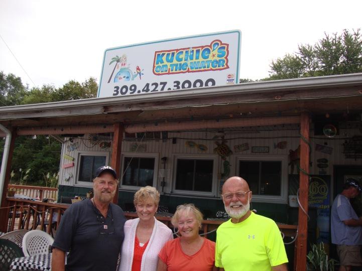 Ron, Vicki, JoAnn and Jim at Koochies.