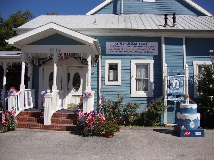 The famous Blue Owl Restaurant in Kimmswick, Missouri