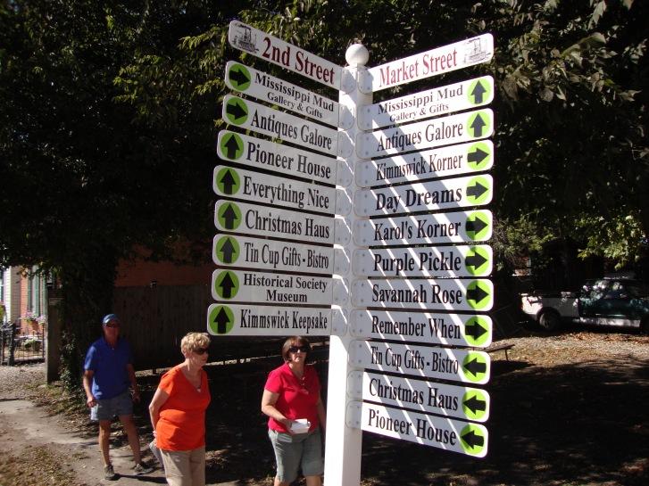 Walking the town of Kimmswick, Missouri
