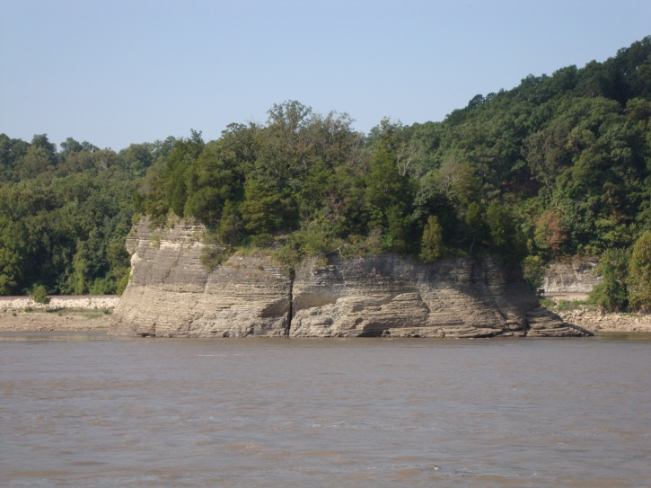 Island formation on Mississippi River between Hoppie's and Little River Diversion Channel