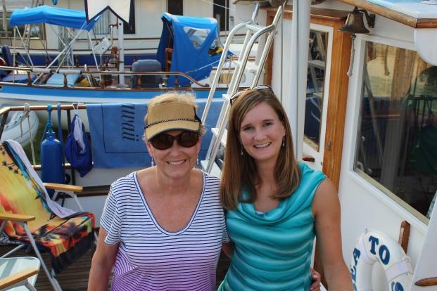 Vicki and Kari aboard Sea To See.