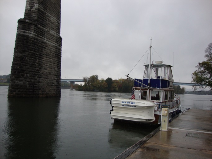 Sea To See on the Chattanooga waterfront.  Another rainy day.