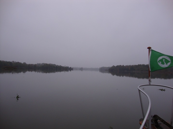 Vicki Water on the Tenn - Tom early in the morning
